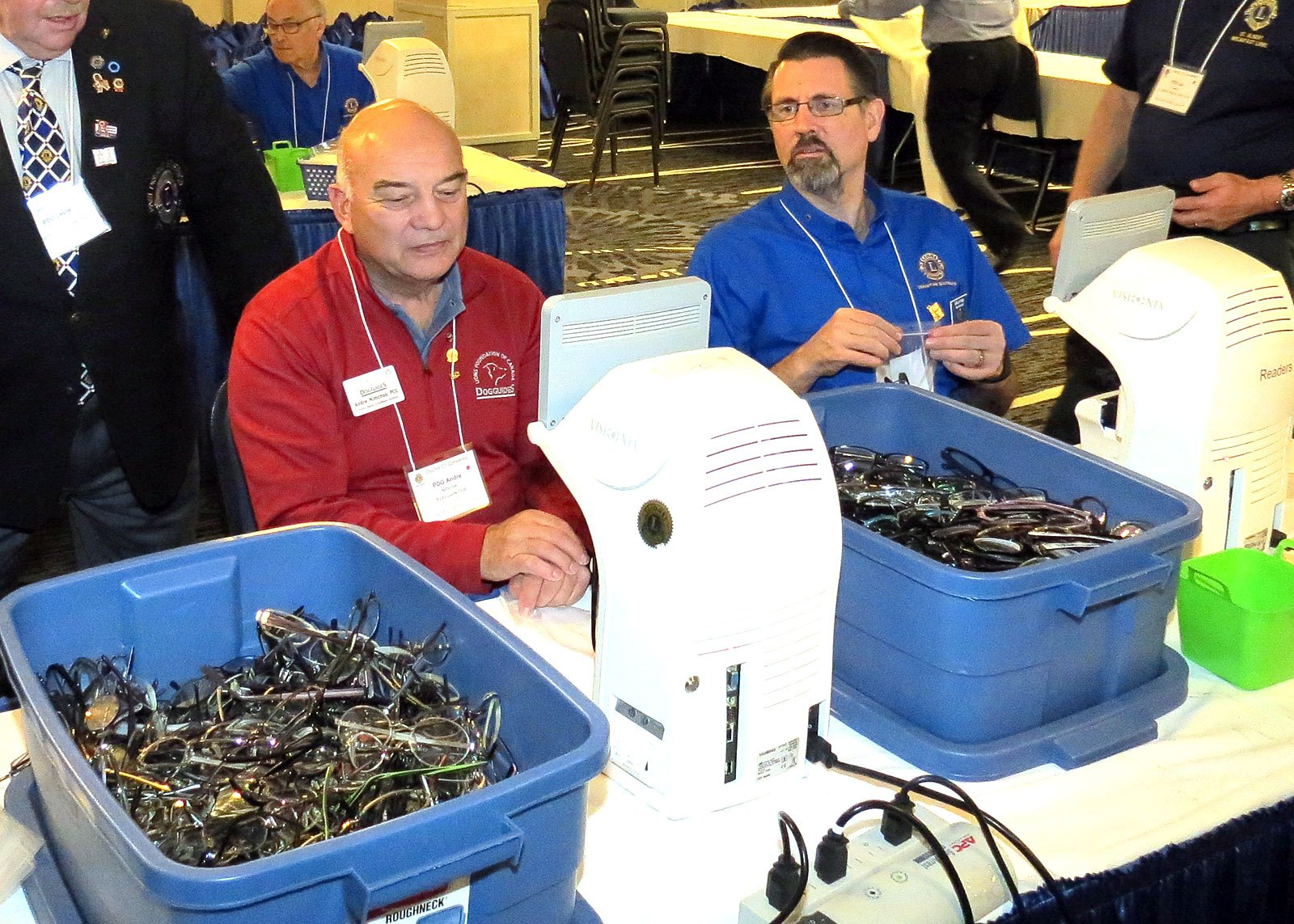 Lions sorting and classifying recycled eyeglasses | Nov 2017