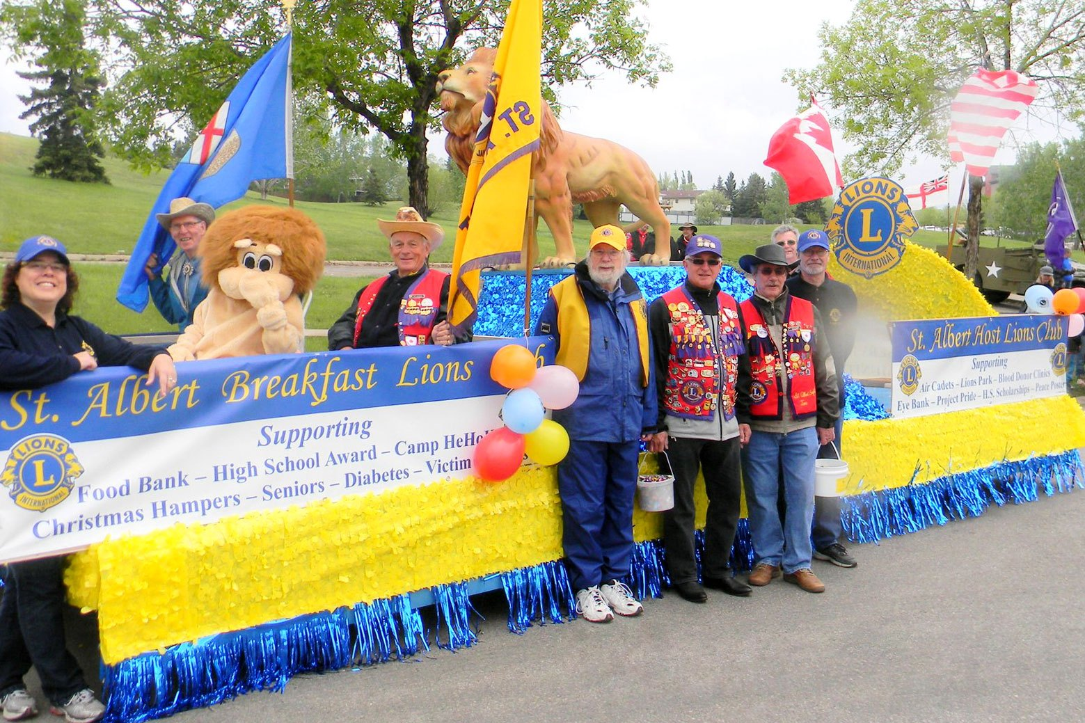 St. Albert Lions Clubs in Parade