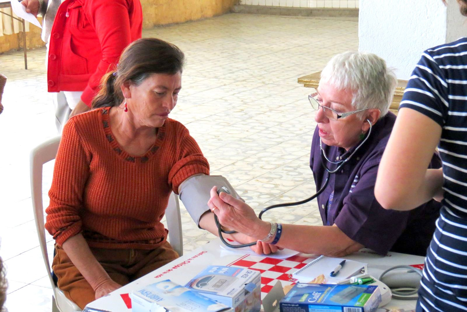 Blood pressure check at Mexico Vision Mission