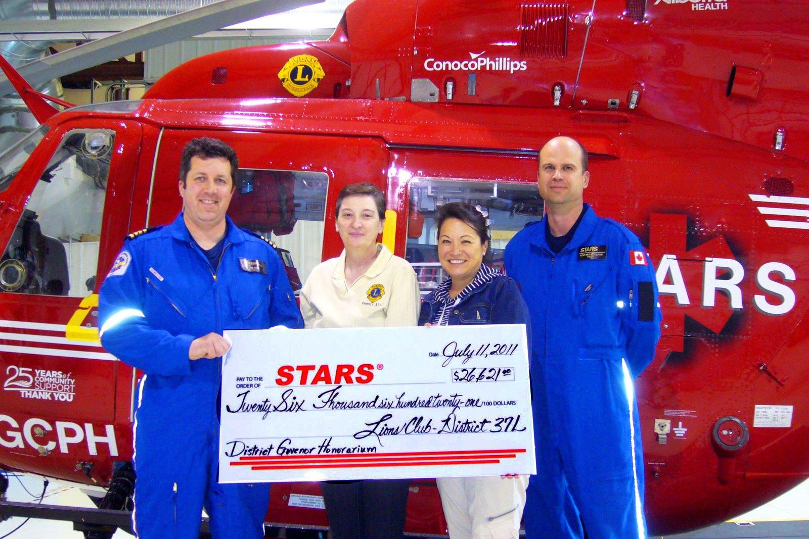 Grande Prairie Lions support STARS