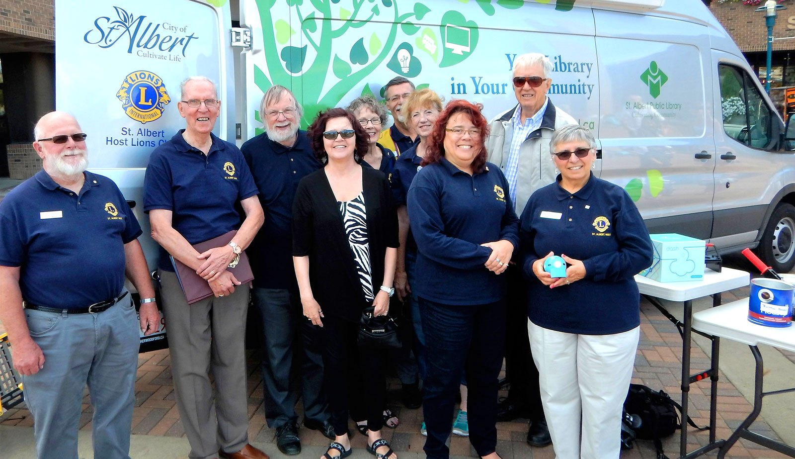 St Albert Host Lions equip a library resource vehicle, for their Centennial Project.
