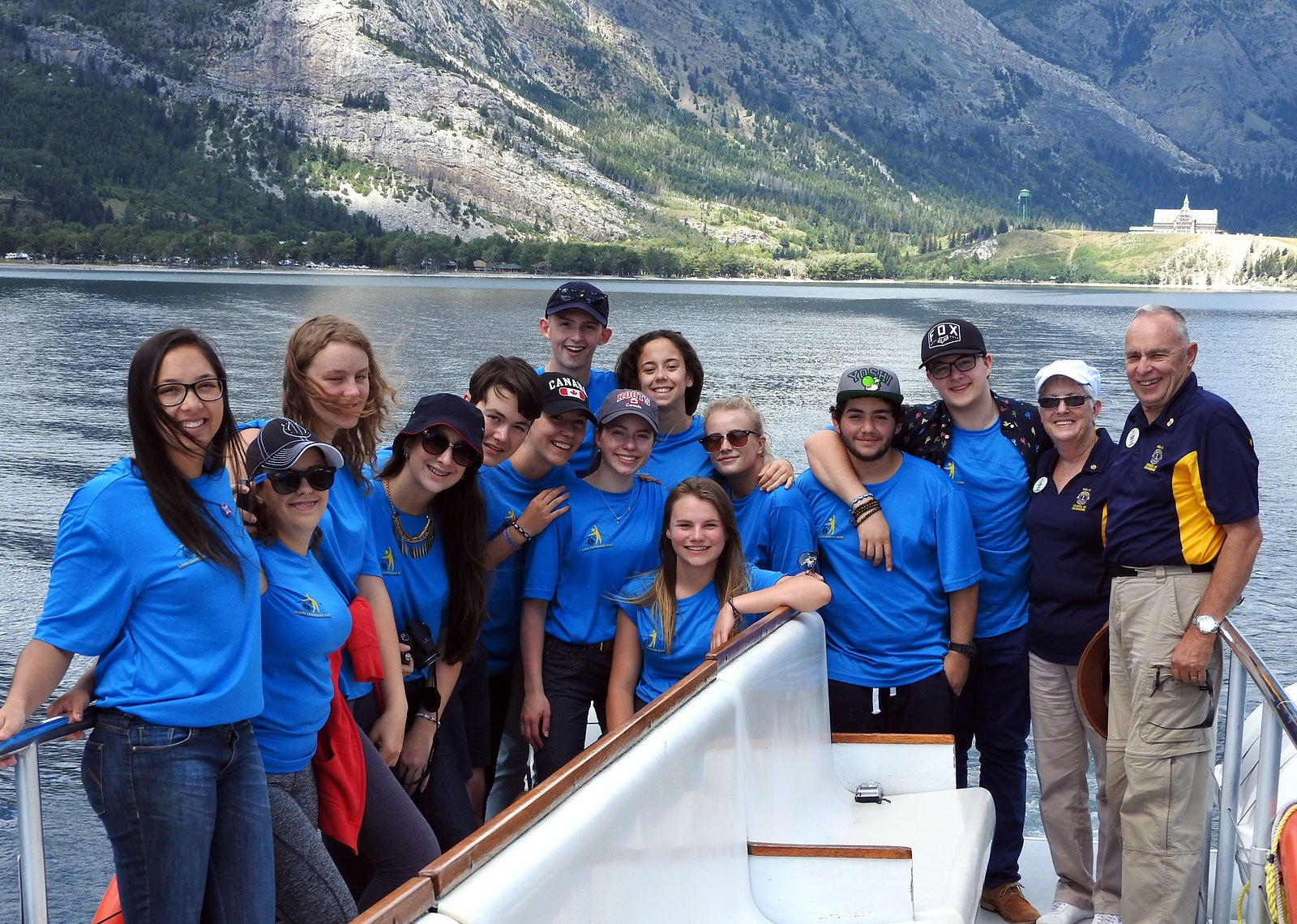 District Governor Ron Wackenhut and Lynda at the Waterton  International Youth Camp | July 2016
